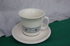 TAZZA THE CON PIATTINO AVORIO/BLU