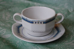 TAZZA BRODO CON PIATTINO PARIS DEC