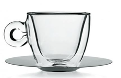 SET 2 TAZZA CAFFE' C/P THERMIC GLASS