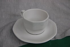 TAZZA THE CON PIATTINO PARIS BIANCO